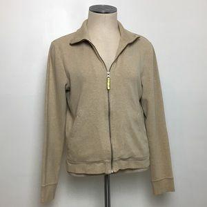 J.Crew Elbow Patch Zip Up Sweatshirt